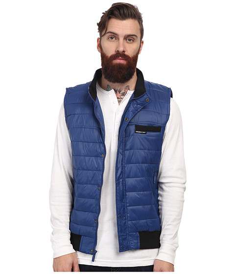Members Only - Down Vest w/ Contrast Rib (Cobalt/Cobalt/Academy) Men's Vest