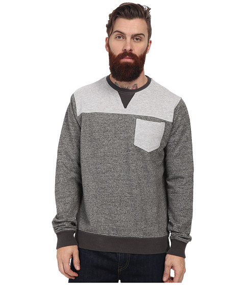 Members Only - Marled French Terry Crew Neck Pull Over (Grey) Men
