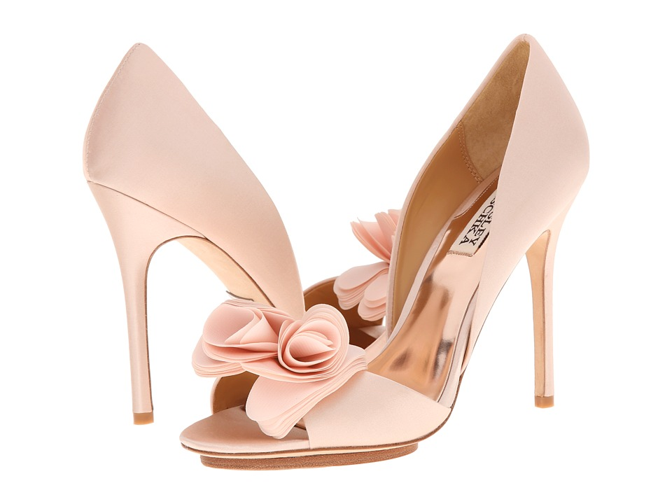 Badgley Mischka - Blossom (Pink Satin/Silk) High Heels