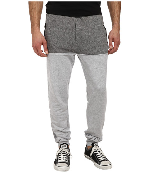 Members Only - Marled French Terry Color Block Jogger Pant (Grey) Men