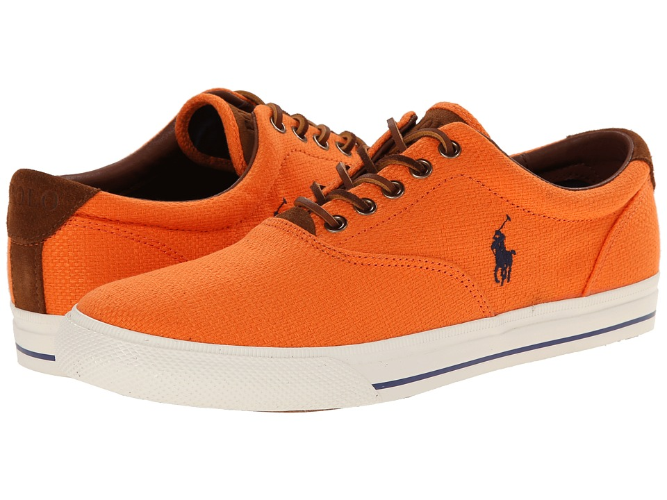 Polo Ralph Lauren - Vaughn (Bright Signal Orange Hopsack/Sport Suede) Men's Lace up casual Shoes
