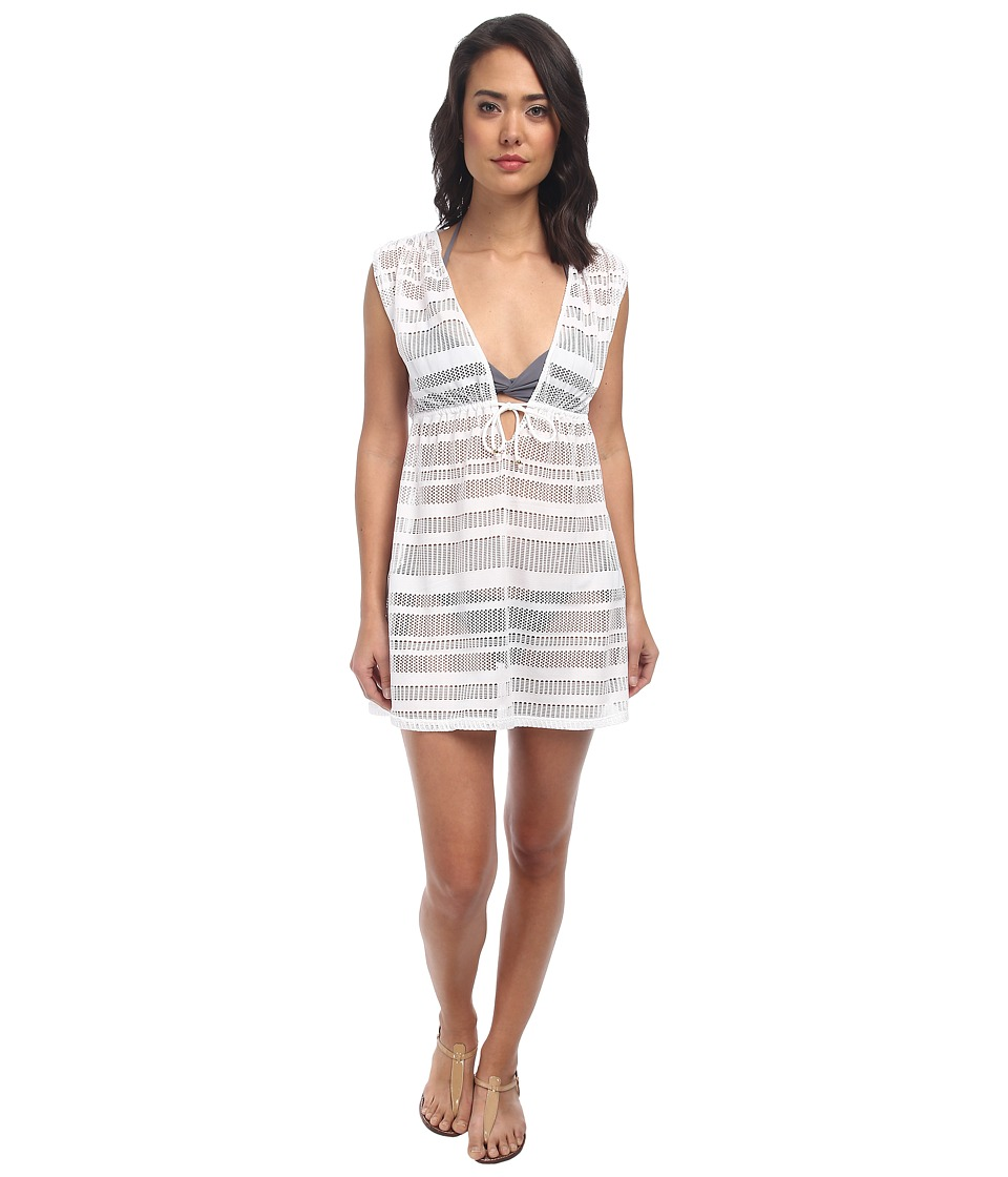 LAUREN Ralph Lauren - Horizon Crochet Sleeveless Dress Cover-Up (White) Women's Swimwear