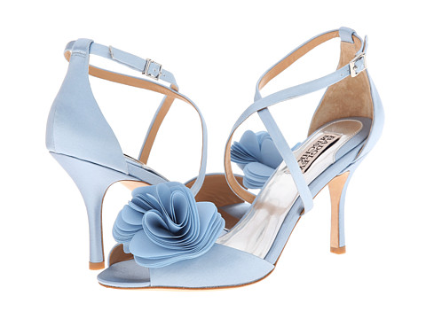 Badgley Mischka - Gaby (Light Blue Satin/Chiffon) High Heels