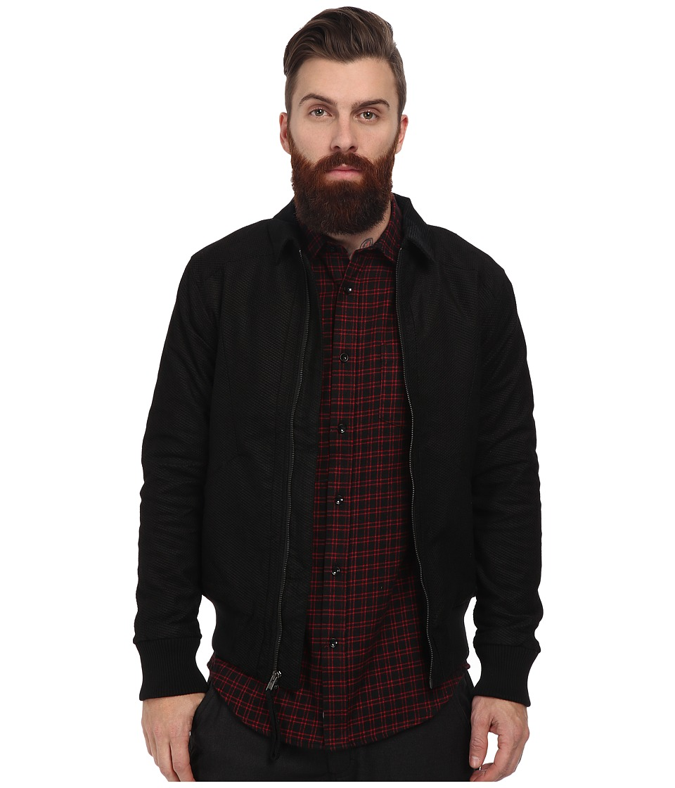 Publish - Cyrus Textured Stretch Twill Bomber (Black) Men