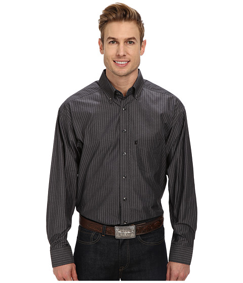 Tuf Cooper by Panhandle - L/S Button-Down (Charcoal) Men's Long Sleeve Button Up