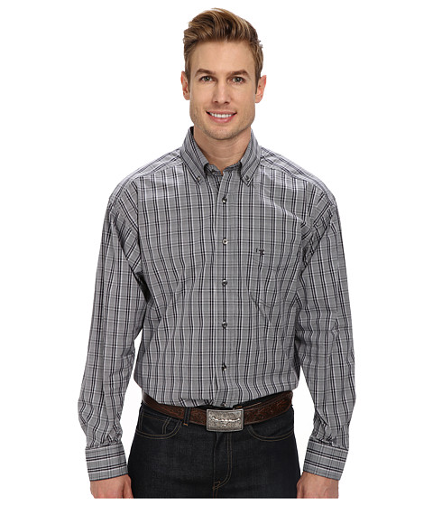 Tuf Cooper by Panhandle - L/S Button-Down (Grey) Men's Long Sleeve Button Up
