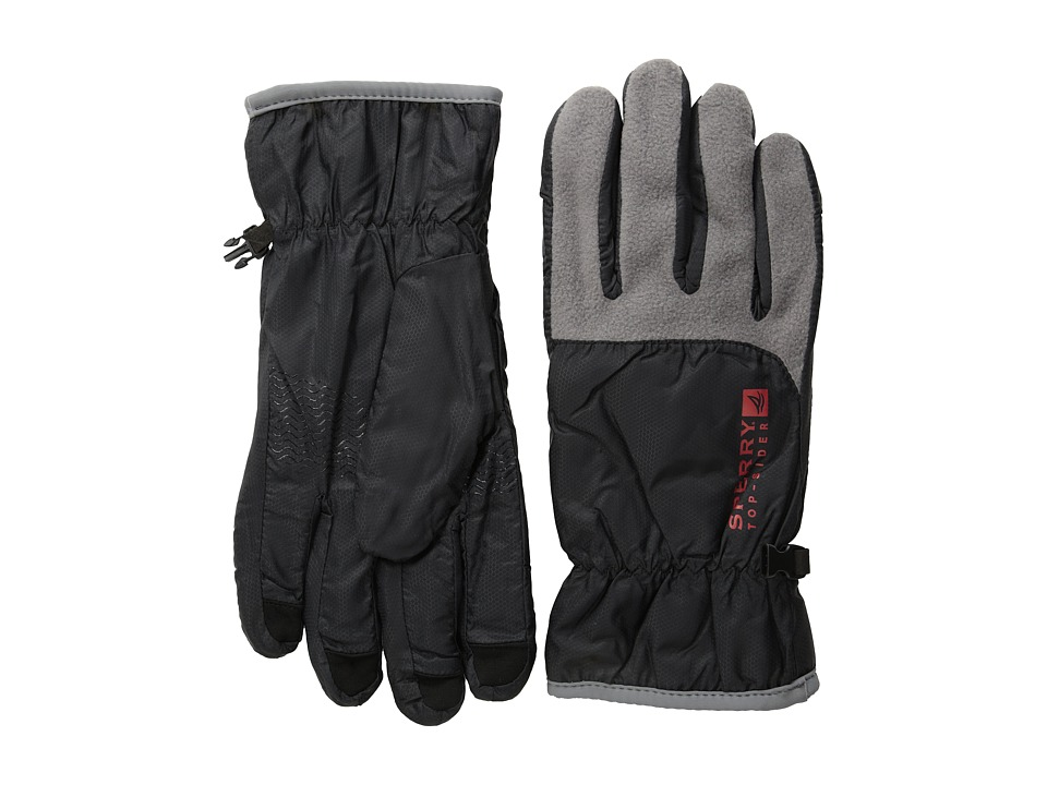 Sperry - Fleece Nylon Glove (Black) Extreme Cold Weather Gloves