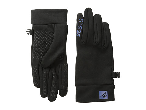 Sperry Top-Sider - Stretch Nylon w/ Touchscreen (Black/True Blue) Extreme Cold Weather Gloves