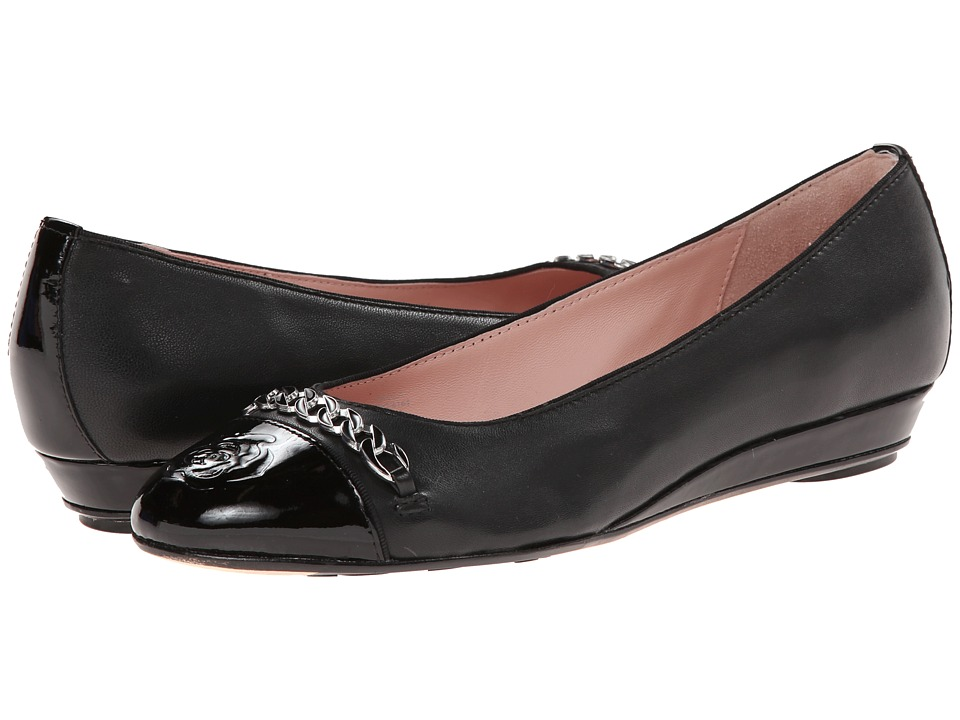 Taryn Rose - Paola (Black/Black Soft Nappa/Patent) Women's Shoes