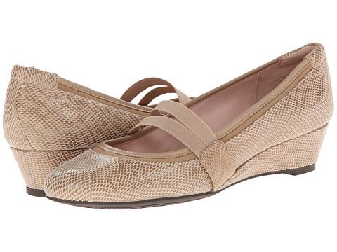 Taryn Rose - Pylon (Peanut Lizard Print Suede) Women's Shoes