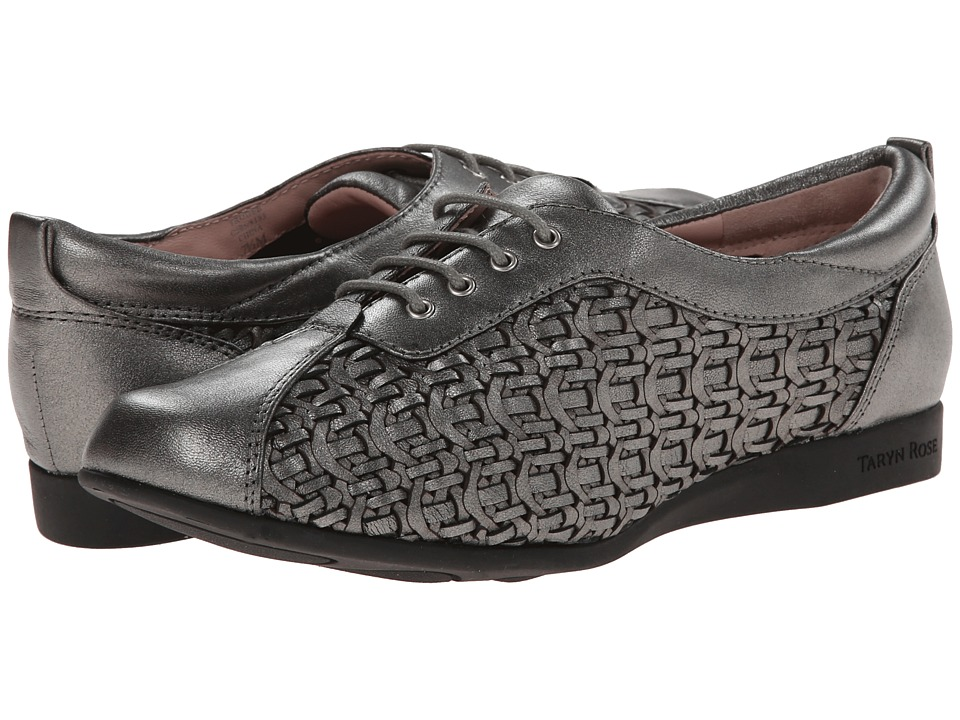 Taryn Rose Trudee (Pewter Metallic Nappa) Women