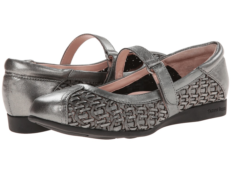 Taryn Rose - True (Pewter Metallic Nappa) Women's Maryjane Shoes