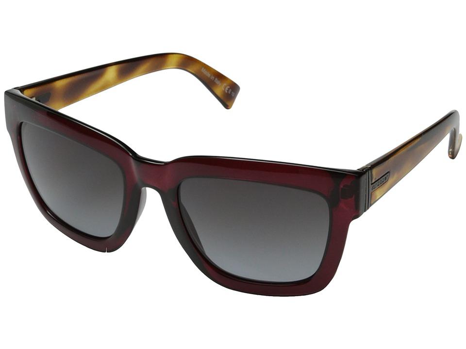 VonZipper - Juice (Maroon Tortoise Crystal/Grey Gradient) Sport Sunglasses