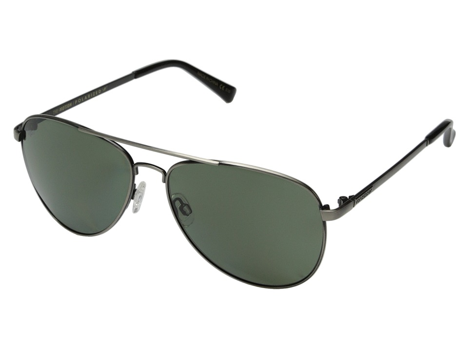 VonZipper - Farva Polar (Antique Charcoal Satin/Grey Poly Polar) Fashion Sunglasses