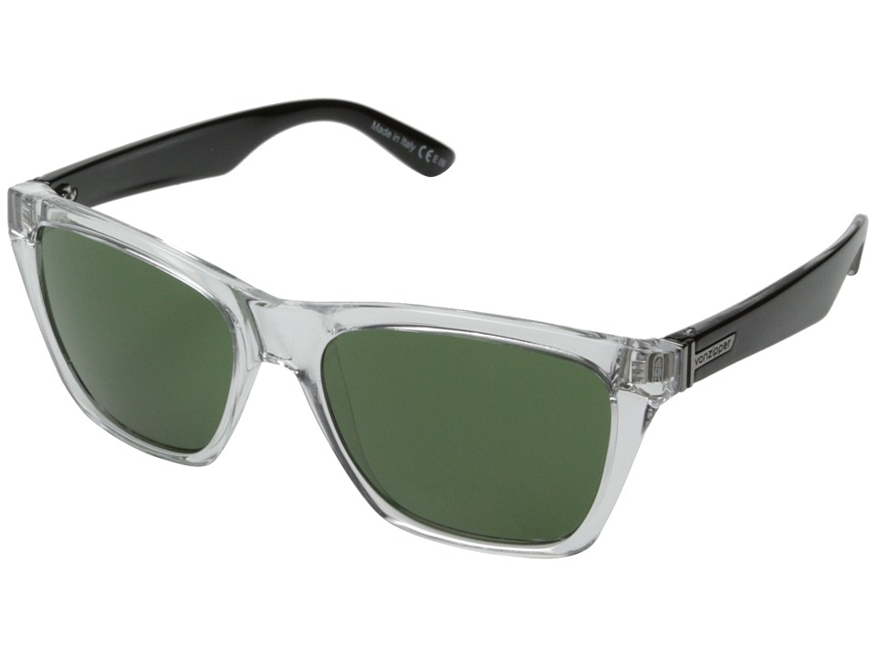 VonZipper - Booker (Crystal Black Crystal/Green) Sport Sunglasses