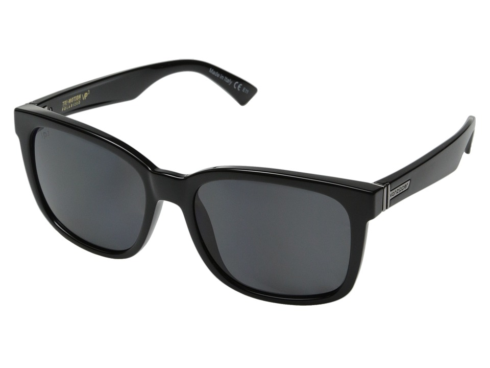 VonZipper - Howl Polar (Black Gloss/Grey Poly Poler) Fashion Sunglasses