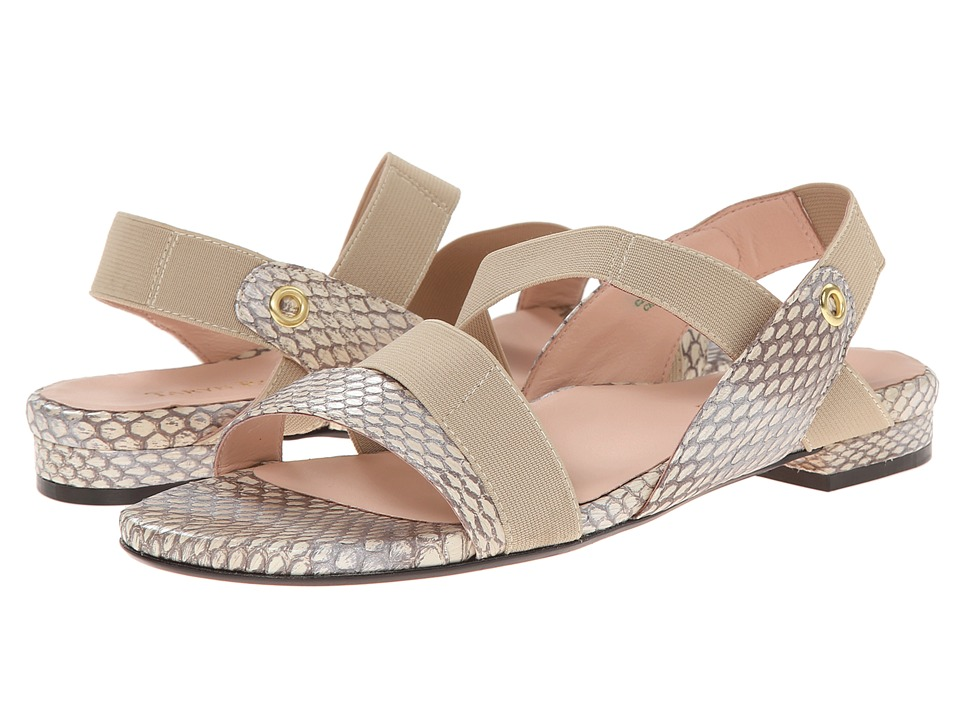 Taryn Rose - Iyana (Cream Snake Print/Elastic) Women's Sandals