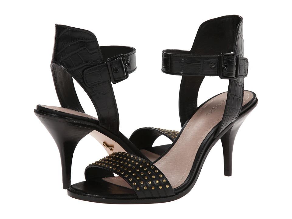 Pour La Victoire Mya (Black Croco/Studs) High Heels