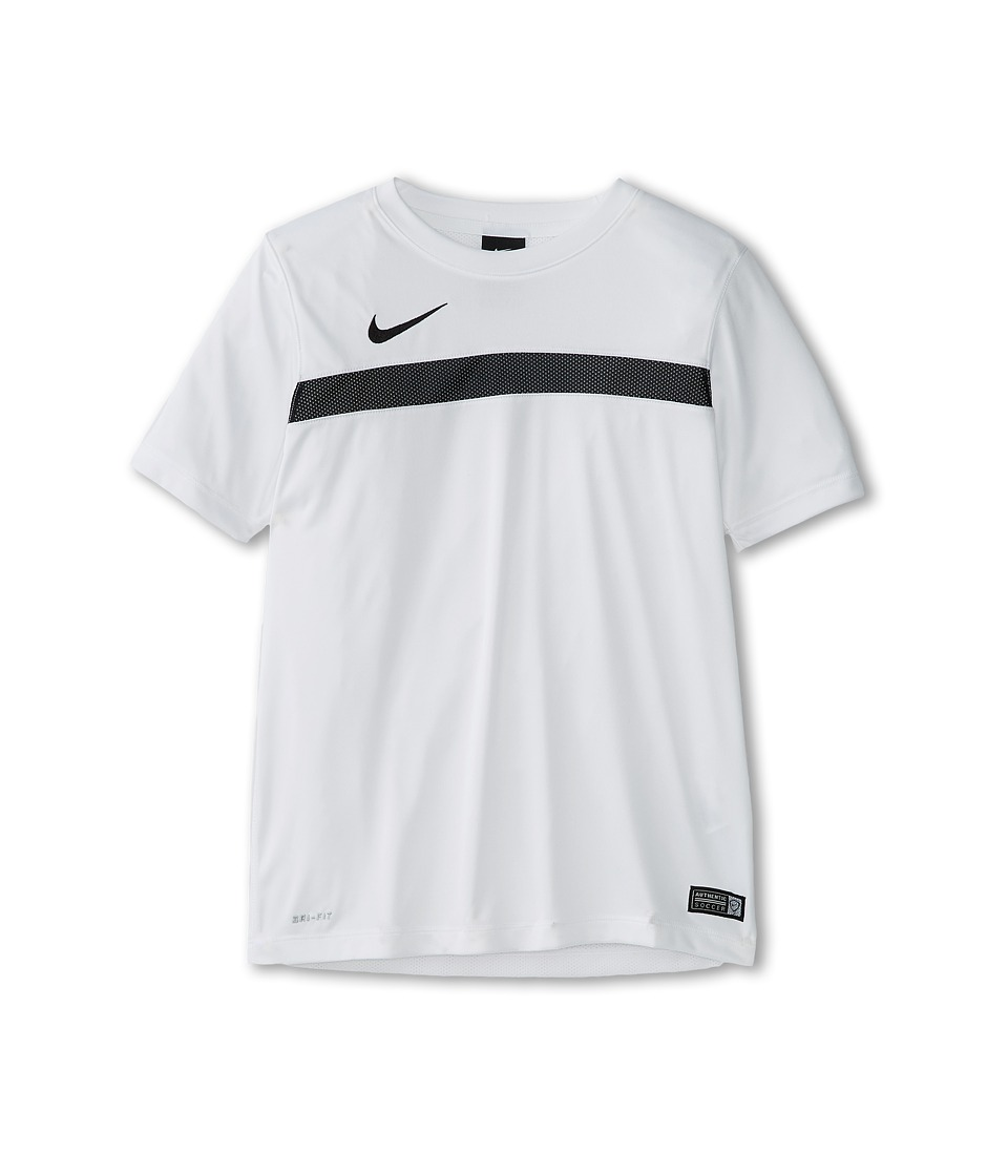 Nike Kids - Dry Academy Short Sleeve Training Shirt (Little Kids/Big Kids) (White/Black/White/Black) Boy's Short Sleeve Pullover