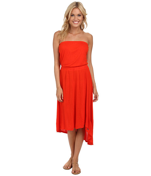 Roxy - Pure Luxe Tube Dress (Fiery Orange) Women