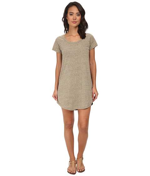 Roxy - Ben Weston Tee Shirt Shift Dress (Military Olive) Women's Dress