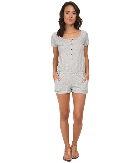 Roxy - Two Harbors S/S Romper (Charcoal Heather) Women's Jumpsuit & Rompers One Piece