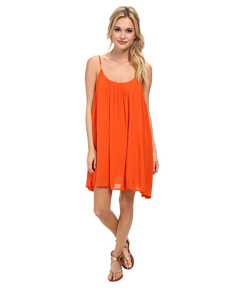Roxy - Tidal Wave Tank Dress (Persimmon) Women's Dress