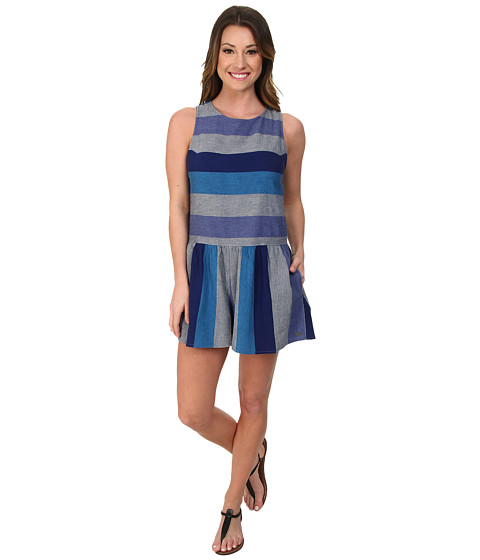 Roxy - Romp Around Romper (Laguna Stripe) Women's Jumpsuit & Rompers One Piece