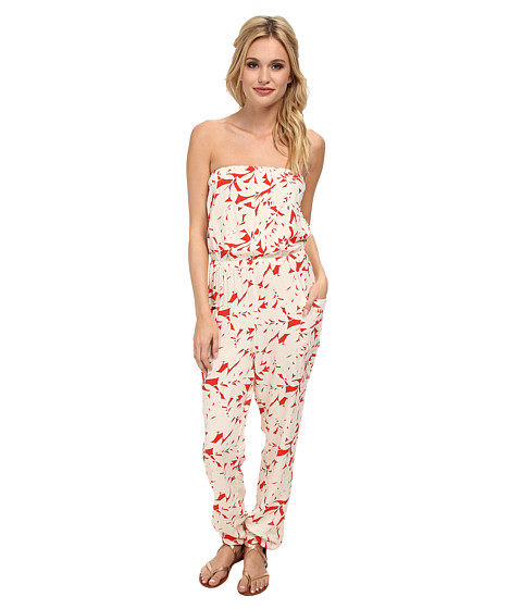 Roxy - Funnel of Love Romper (Fiery Orange) Women