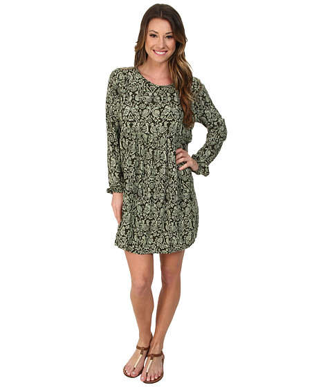 Roxy - Traveler L/S Dress (Deep Forest Print) Women's Dress