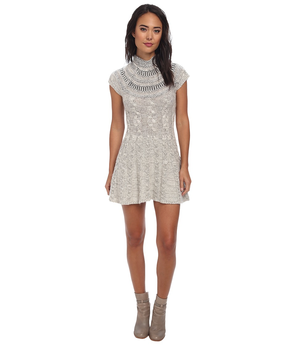 Free People - Nordic Nights Sweater Dress (Ivory Heather) Women's Dress