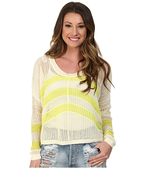 Roxy - Rocky Point Stripe Sweater (Warm White) Women's Sweater
