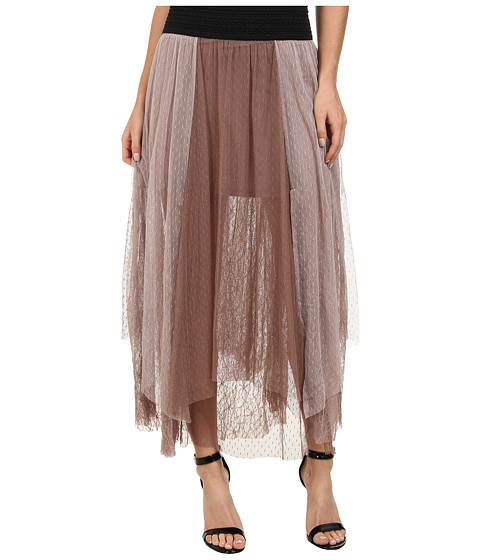 Free People - Dotted Mesh Sugar Plum Tutu Skirt (Earth Purple) Women