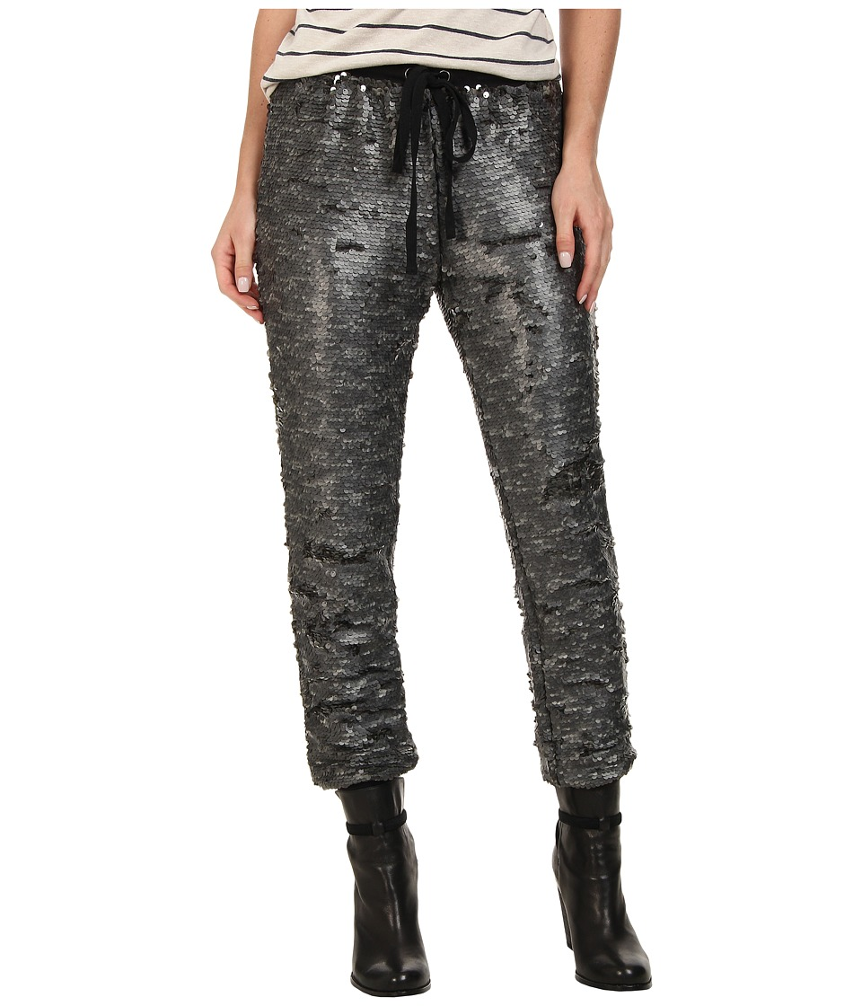 Free People - Drippy Knit Sequin Jogger (Gunmetal) Women's Casual Pants