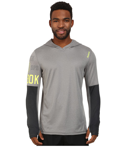 Reebok - Workout Ready Lightweight Poly Hoodie (Foggy Grey) Men