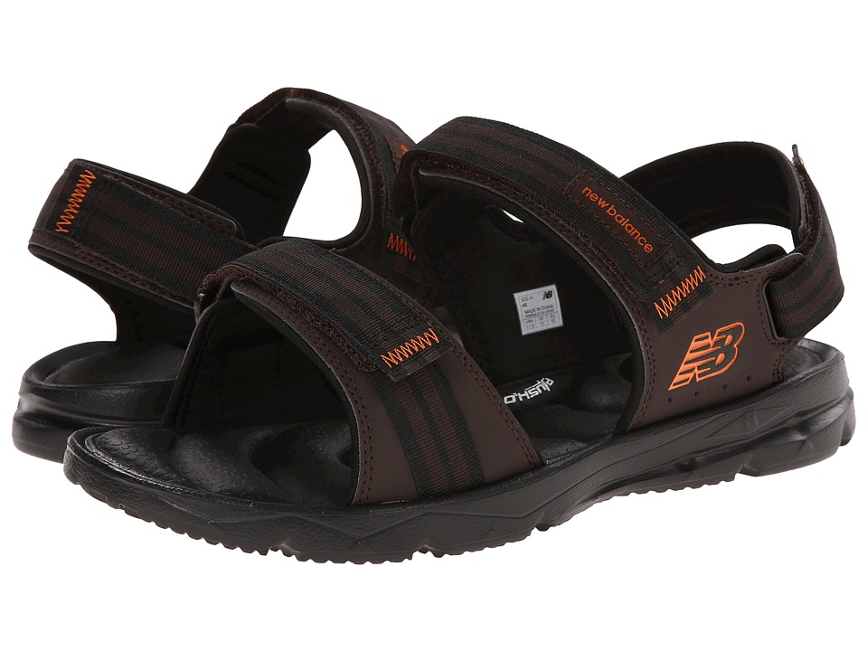 New Balance - Rev Plush20 Sandal (Brown/Orange) Men's Sandals