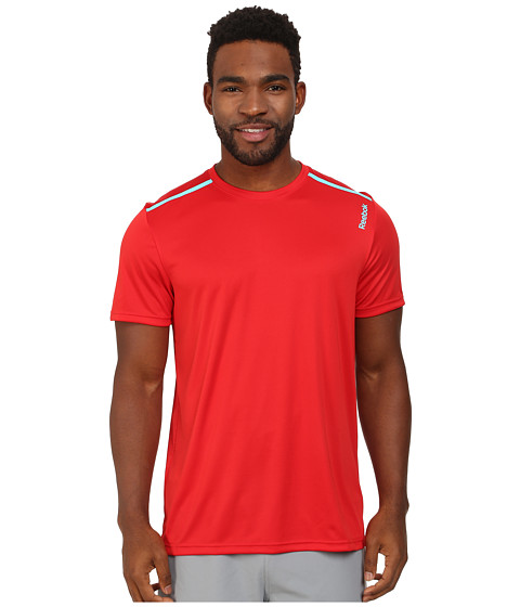 Reebok - Workout Ready Tech Top (Red Rush) Men's Clothing