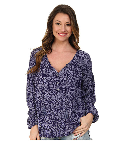 Roxy - World Traveler Peasant Top (Astral Aura Print) Women