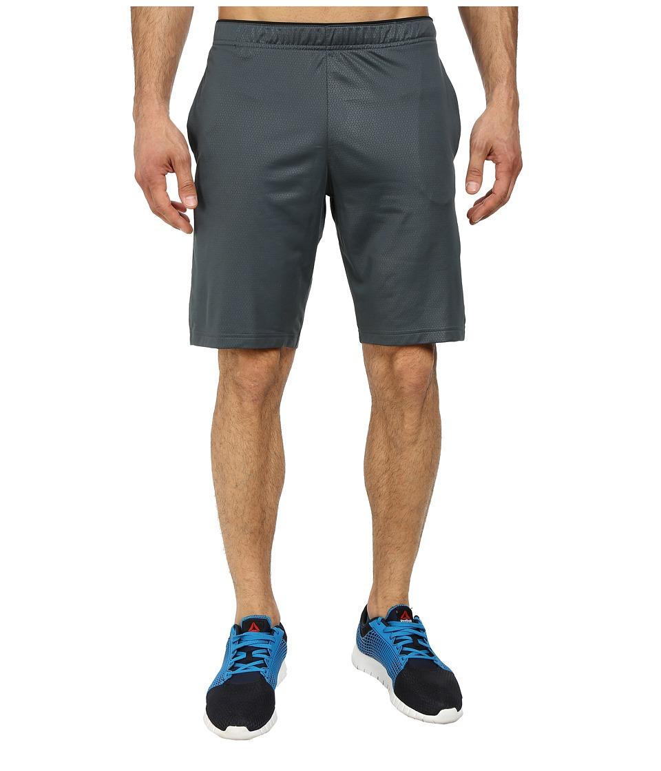 Reebok - Workout Ready Emboss Poly Short (Graphite) Men's Shorts