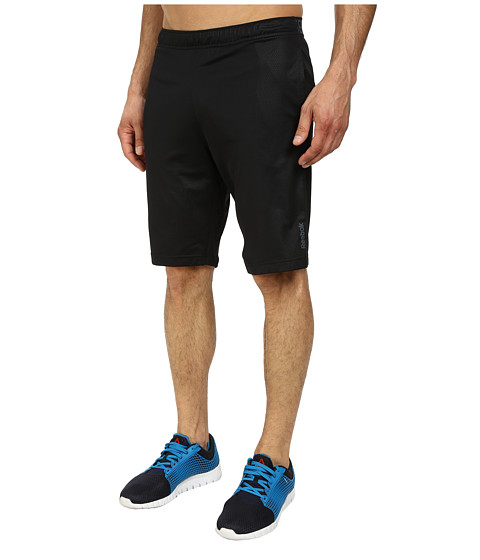 Reebok - Workout Ready Emboss Poly Short (Black) Men's Shorts