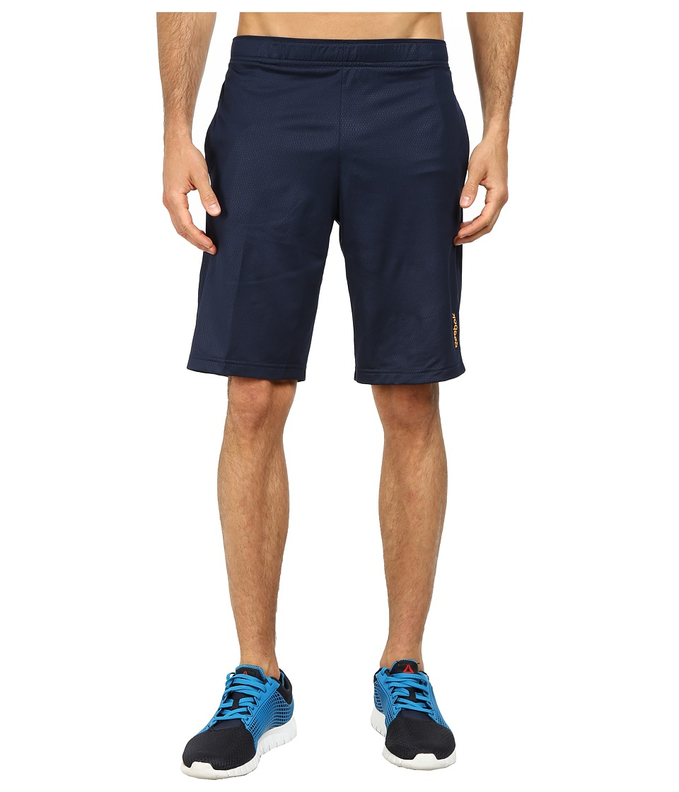 Reebok - Workout Ready Emboss Poly Short (Faux Indigo) Men