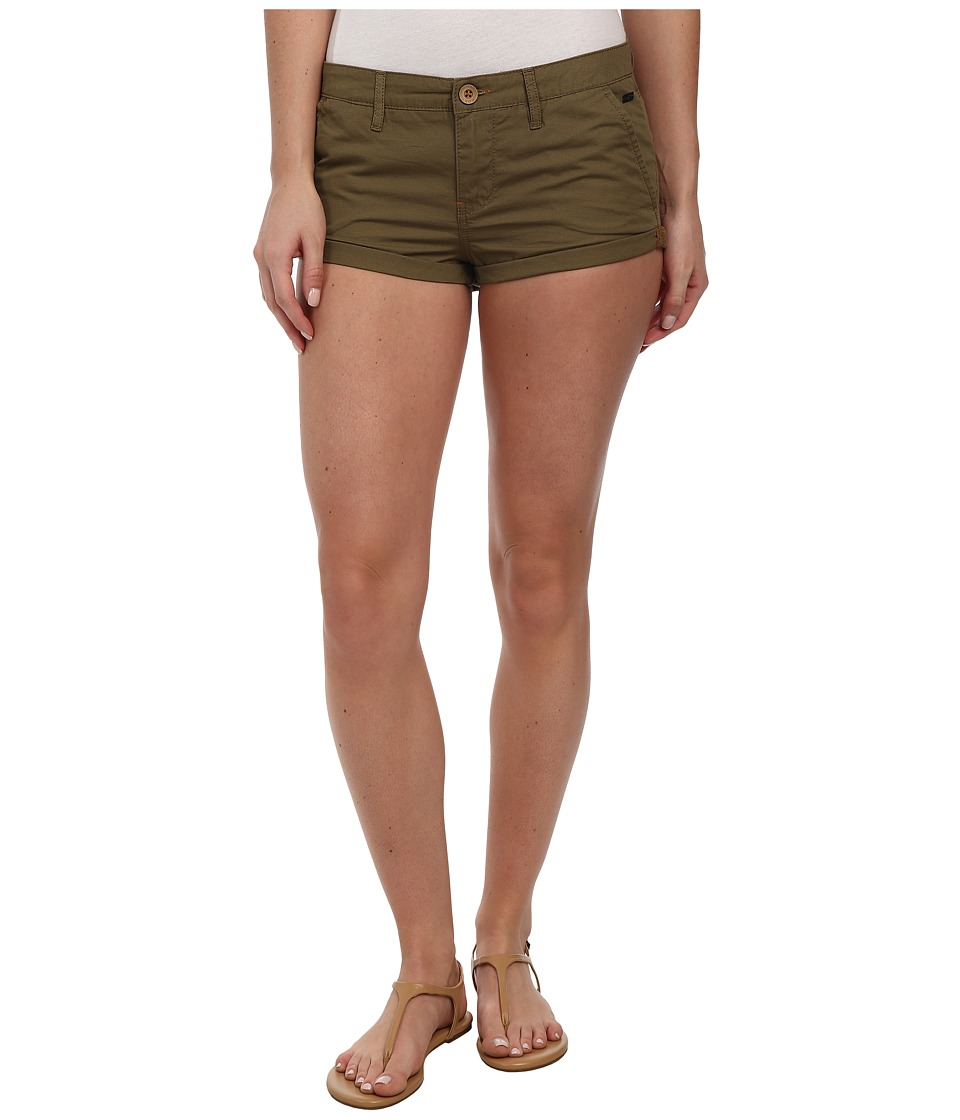 Roxy - Cheeky Short (Military Olive) Women's Shorts