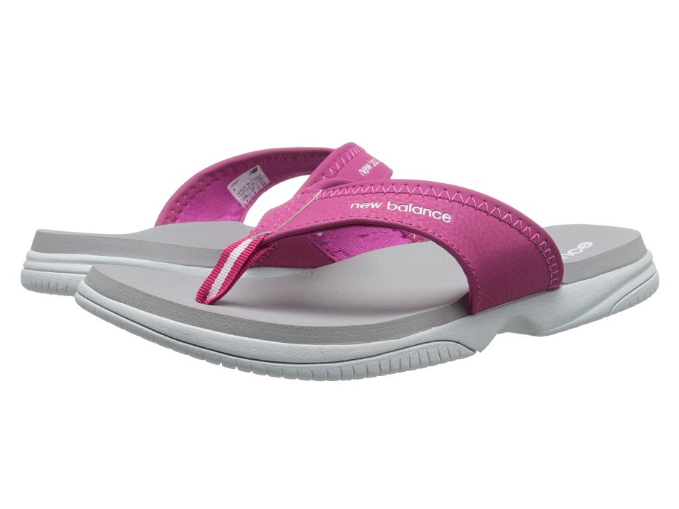 New Balance - JoJo Thong (White/Pink) Women's Sandals