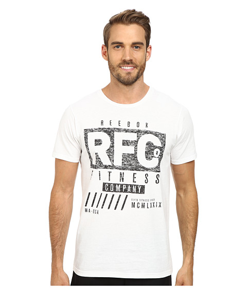 Reebok - Reebok Fitness CO Heritage Tee (White) Men's T Shirt