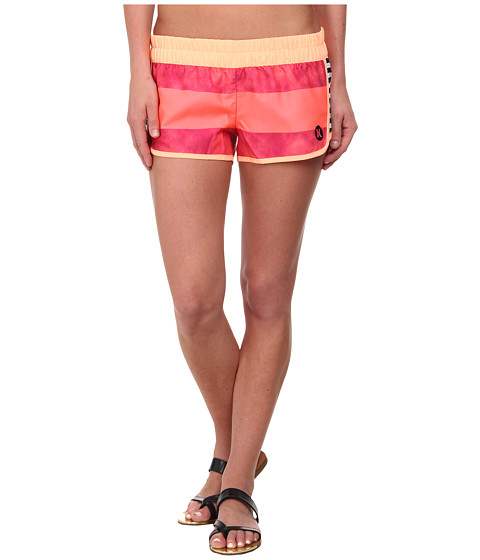 Hurley - Supersuede Printed Beachrider Boardshort (Fuchsia Flash Stripe) Women's Swimwear
