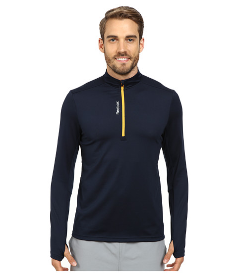 Reebok - Running Essentials M 1/4 Zip (Faux Indigo) Men's Long Sleeve Pullover