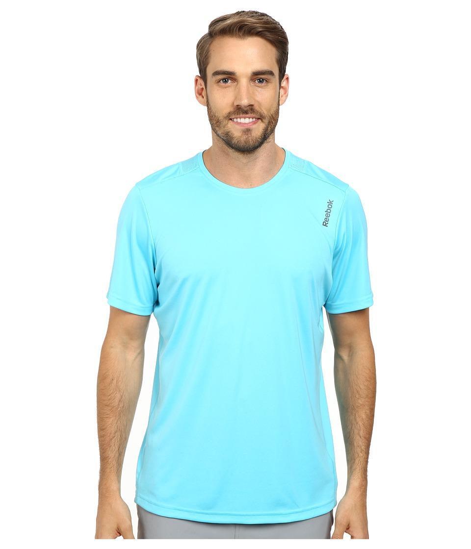 Reebok - Running Essentials S/S Tee (Neon Blue) Men