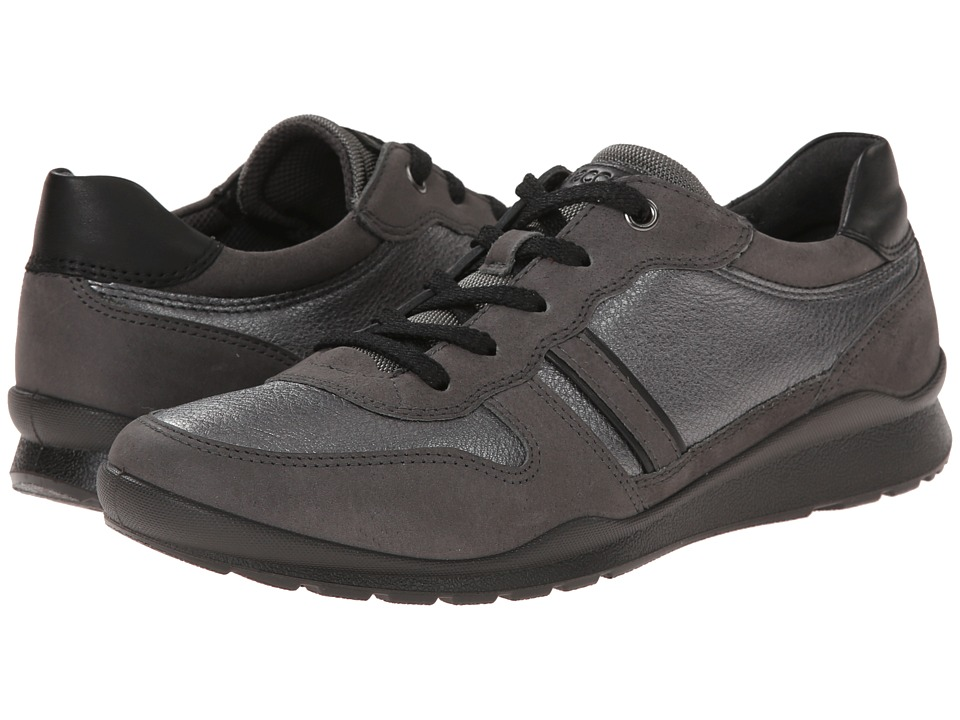 ECCO - Mobile III Premium Sneaker (Dark Shadow/Dark Shadow Metallic/Black) Women's Lace up casual Shoes