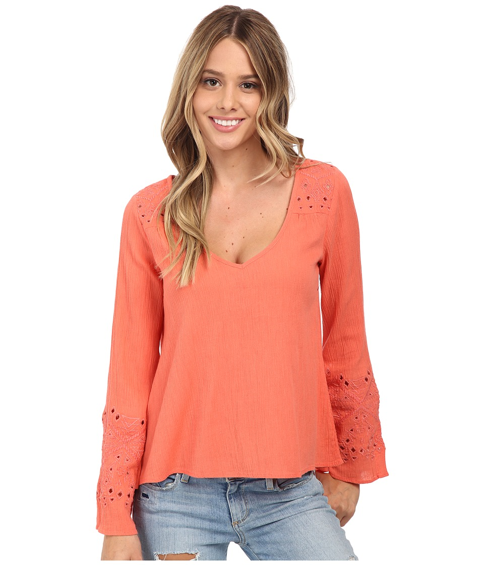 Billabong - Salty Wavez Top (Melon) Women's Blouse