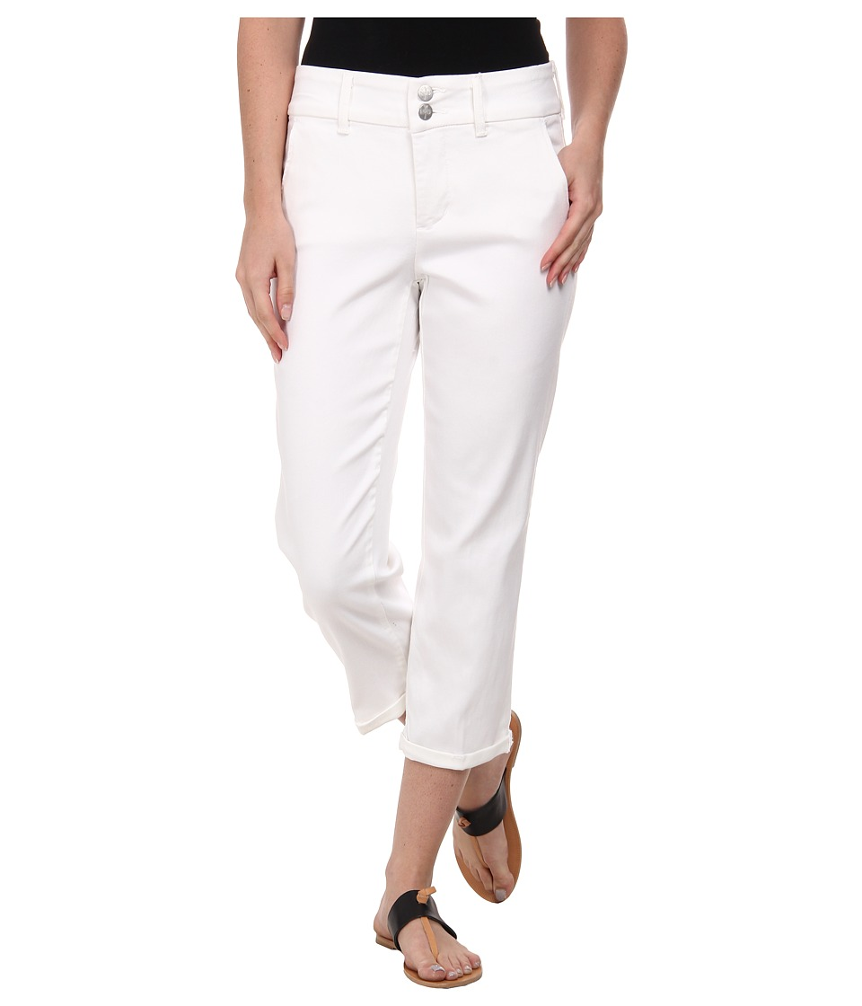 NYDJ - Izzie Crop Tencel Twill (Optic White) Women's Casual Pants